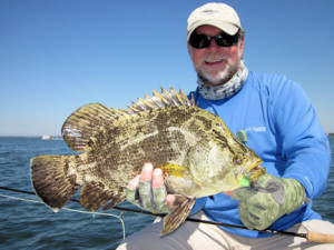 Capt. Rick Grassett caught and released this Sarasota tripletail on a Grassett Flats Bunny fly