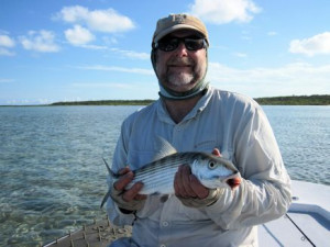 Bill Crelin, from WI, caught and released this bonefish out of of Mars Bay Bonefish Lodge.