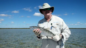 Les Fulcher, from Longboat Key, FL, caught and released this bonefish out of of Mars Bay Bonefish Lodge.