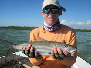 Stewart Lavelle, from Sarasota, FL, caught and released this bonefish out of of Mars Bay Bonefish Lodge.